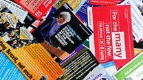 ब्रिटेन चुनाव: प्रचार सामग्रियों का कम इस्तेमाल