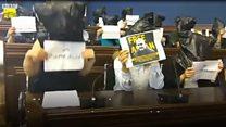 Грузия: журналисты с мешками на головах в поддержку коллеги