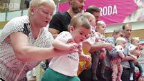 لیتھوینیا میں شیرخوار بچوں کی دوڑ