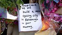 Protest over Edinburgh tram tracks death