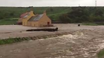 Flooding hits Portsoy and Edinburgh