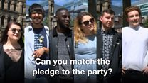 Can you match the pledge to the party?