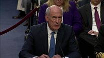 Trump 'never pressured me' says Coats