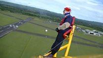 UK's oldest female wing-walker, 88, sets new record