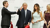 Trump sued over business connections