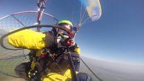RAF pilot paramotors across the UK