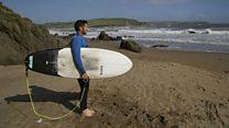 'First shark attack victim in UK waters 'cuts thumb'