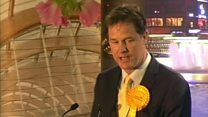 Disappointed Clegg accepts defeat