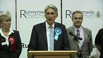 Philip Hammond gives acceptance speech