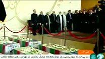 خاکسپاری ۱۷ قربانی حملههای تهران