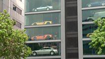 نمایشگاه فروش خودرو در ارتفاع؛ راه حلی در شهر پر تراکم سنگاپور