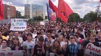 Протесты и задержания в регионах: от Владивостока до Твери
