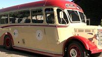 Vintage bus returns to Shetland Islands