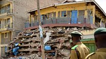 'My son was in collapsed building'