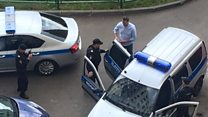 Putin critic detained before Moscow protest