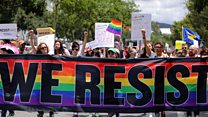 What do LGBT protesters want?