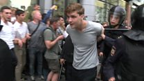 ТВ-новости: реакция на Западе на задержания протестовавших в России