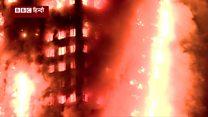 लंदन की बहुमंज़िला इमारत आग के आगोश में!