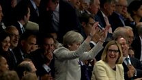 May attempts Mexican wave