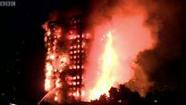 Imagens mostram arranha-céu residencial sendo consumido pelo fogo em Londres