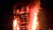 Imágenes del devastador incendio en un edificio de 24 pisos en Londres