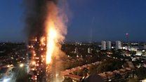 Пожар в многоквартирной высотке на западе Лондона