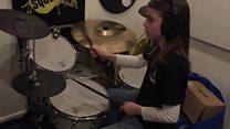 Drummer who never speaks to her teacher