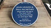 Lennon and McCartney gig pub honoured