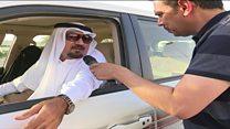 بي بي سي تنقل الصورة من معبر أبو سمرة البري على الحدود القطرية