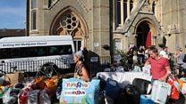 食料や衣服、おもちゃまで――ロンドン火災、被災者支援に市民団結