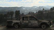 South Africa wildfire devastation
