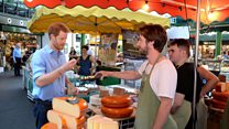 Prince Harry visits Borough Market