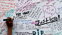 The messages written after London fire