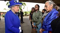 Queen and Prince William visit fire site