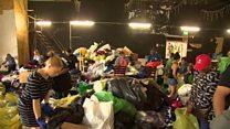 လန်ဒန်မီးဘေး ဒုက္ခသည်တွေကို ပရဟိတ အဖွဲ့တွေက ကူညီ