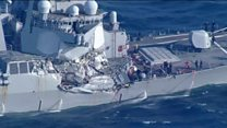 US destroyer damaged in crash off Japan