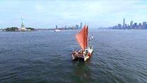 قایق آمریکایی بدون وسایل مدرن جهت یابی،  دور دنیا را گشت
