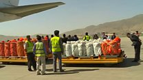 رئیس جمهوری افغانستان اولین مسیر هوایی افغانستان و هند را افتتاح کرد