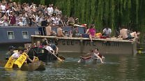 Cardboard boat race takes over Cam