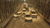 Десятки авто потрапили у вогняну пастку