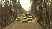 İHA görüntüleriyle Portekiz'deki yangın dehşeti