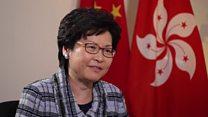 Who does Hong Kong's leader represent?