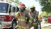 Firefighting in extreme Arizona heatwave