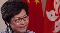 林郑月娥:无法保证呼吁港独的公民言论自由