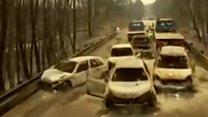 สภาพความเสียหายจากไฟป่าในโปรตุเกสที่บันทึกจากโดรน