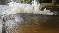 Burst water pipe in Totton