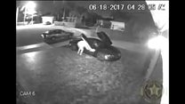 Car burglar caught with his pants down