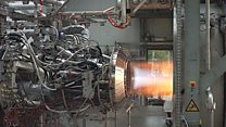 Test for Ariane rocket's Vinci engine