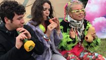 Vegetable orchestra plays Glastonbury