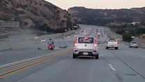US 'road rage' causes dramatic crash